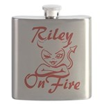 Riley On Fire Flask