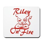 Riley On Fire Mousepad