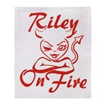 Riley On Fire Throw Blanket