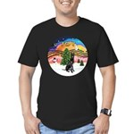 XMusic2-GreatDane (blk-cr) Men's Fitted T-Shirt (d