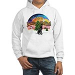 XMusic2-GreatDane (blk-cr) Hooded Sweatshirt
