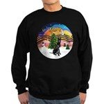 XMusic2-GreatDane (blk-cr) Sweatshirt (dark)