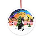 XM2-Gr.Dane (blk-nat) Ornament (Round)