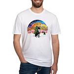 XM2-Gr.Dane (blk-nat) Fitted T-Shirt