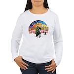 XM2-Gr.Dane (blk-nat) Women's Long Sleeve T-Shirt