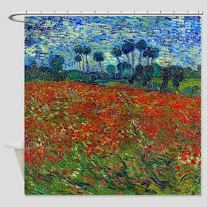 Van Gogh - Poppy Field Shower Curtain