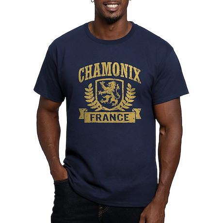 Chamonix France Men's Fitted T-Shirt (dark)