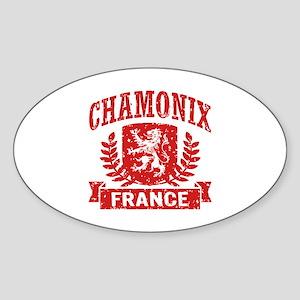 Chamonix France Sticker (Oval)