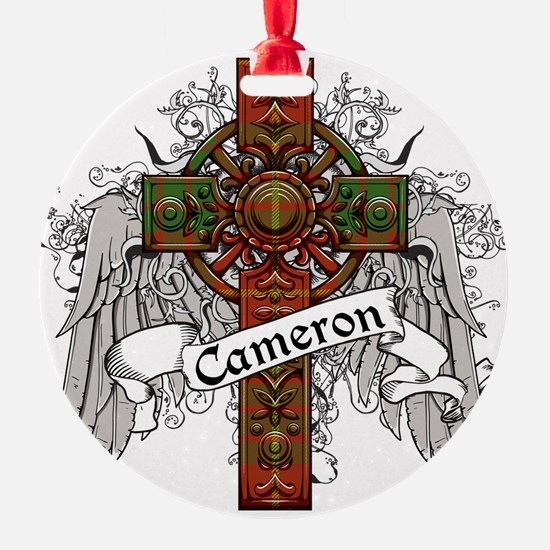 Cameron Tartan Cross Ornament
