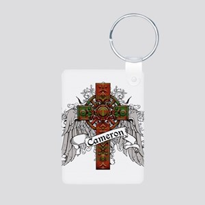 Cameron Tartan Cross Aluminum Photo Keychain