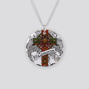 Cameron Tartan Cross Necklace Circle Charm