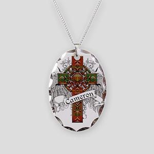 Cameron Tartan Cross Necklace Oval Charm