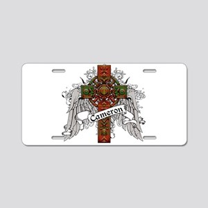 Cameron Tartan Cross Aluminum License Plate