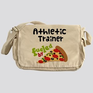Athletic Trainer Funny Pizza Messenger Bag