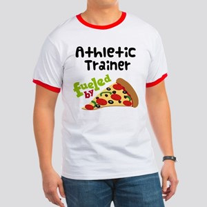 Athletic Trainer Funny Pizza Ringer T