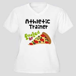 Athletic Trainer Funny Pizza Women's Plus Size V-N