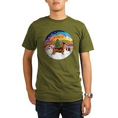 XMusic2-Irish Setter Organic Men's T-Shirt (dark)