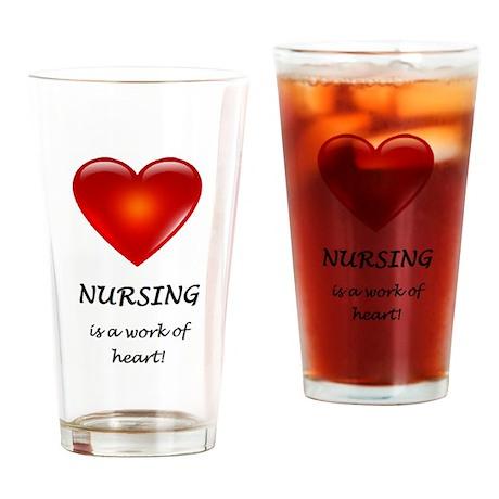 Nursing work of heart Drinking Glass