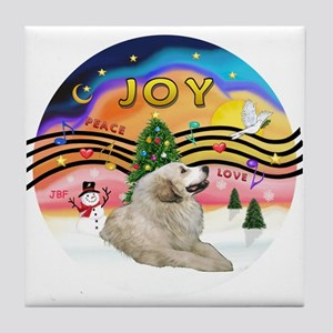 XMusic2-GreatPyrenees 1 Tile Coaster