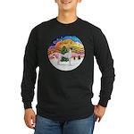 XMusic2 - Greyhound (BW) Long Sleeve Dark T-Shirt