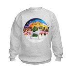 XMusic2 - Greyhound (BW) Kids Sweatshirt