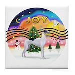 XMusic2 - Greyhound (BW) Tile Coaster