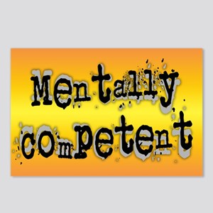 Mentally Competent... Postcards (Package of 8)