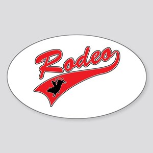 Rodeo (red) Oval Sticker
