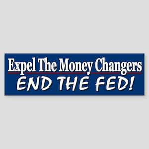 Expel The Money Changers Sticker (Bumper)