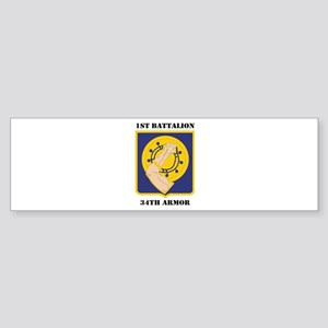 DUI - 1st Battalion, 34th Armor with Text Sticker