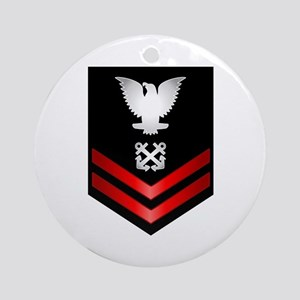 Navy PO2 Boatswain's Mate Ornament (Round)