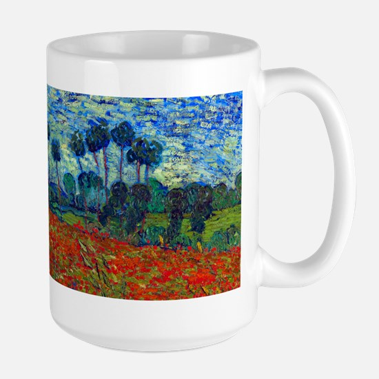 Van Gogh - Poppy Field Large Mug