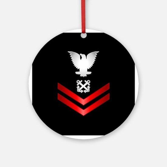 Navy PO2 Boatswain's Mate Ornament (Round)