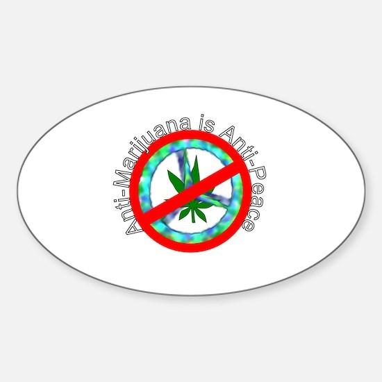antimarijuana Sticker (Oval)