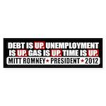 Time Is Up Anti Obama Sticker (Bumper 50 pk)
