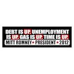Time Is Up Anti Obama Sticker (Bumper 10 pk)