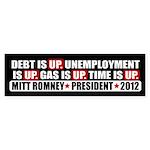 Time Is Up Anti Obama Sticker (Bumper)