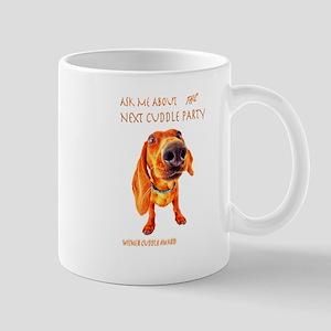dachshund cuddle party Mug
