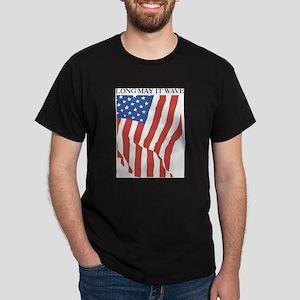 Long May It Wave Black T-Shirt