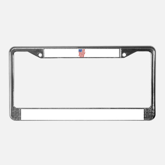 Long May It Wave License Plate Frame