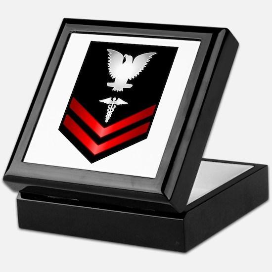 Navy PO2 Corpsman Keepsake Box