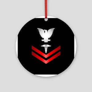 Navy PO2 Corpsman Ornament (Round)