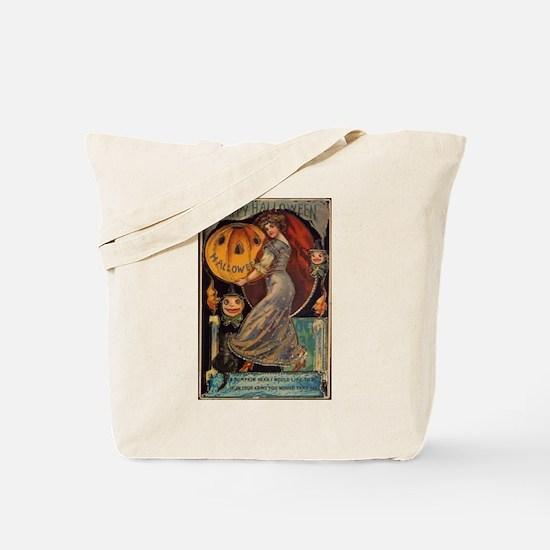 Vintage Halloween Card Tote Bag