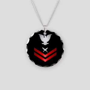 Navy PO2 Cryptologic Technician Necklace Circle Ch