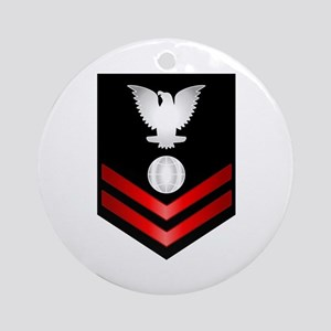 Navy PO2 Electrician's Mate Ornament (Round)