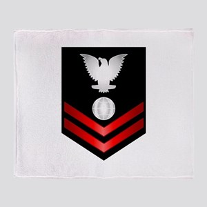 Navy PO2 Electrician's Mate Throw Blanket