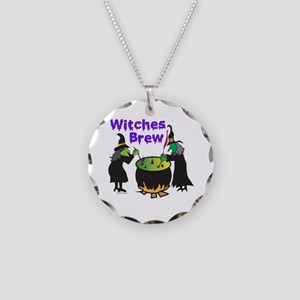 Witches Brew Necklace Circle Charm