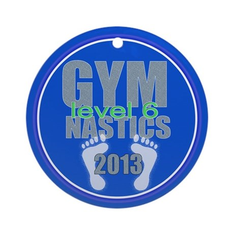 Gymnastics Level 6 Ornament (Round)