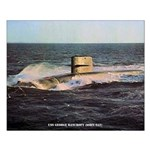 USS GEORGE C. MARSHALL Small Poster