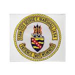 USS GEORGE C. MARSHALL Throw Blanket